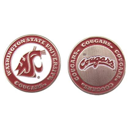 b788ca8bda9 Image Unavailable. Image not available for. Color  Washington State Cougars  Double-Sided Golf Ball Marker