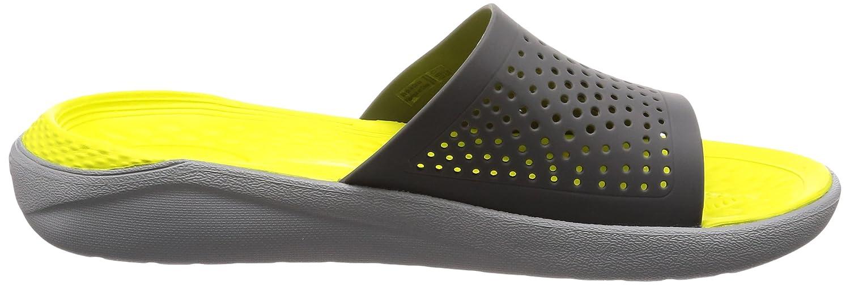 Crocs Unisex LiteRide Slide B074F7QK52 12 US Men/ 14 US Women M US|Slate Grey/Light Grey