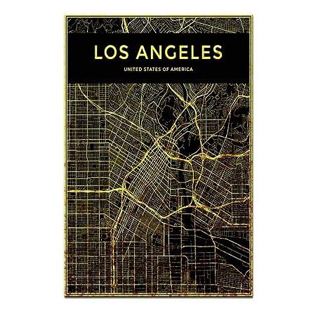 Inicio Lienzo de Pared Arte de Pared Nueva York Mapa Lineal ...