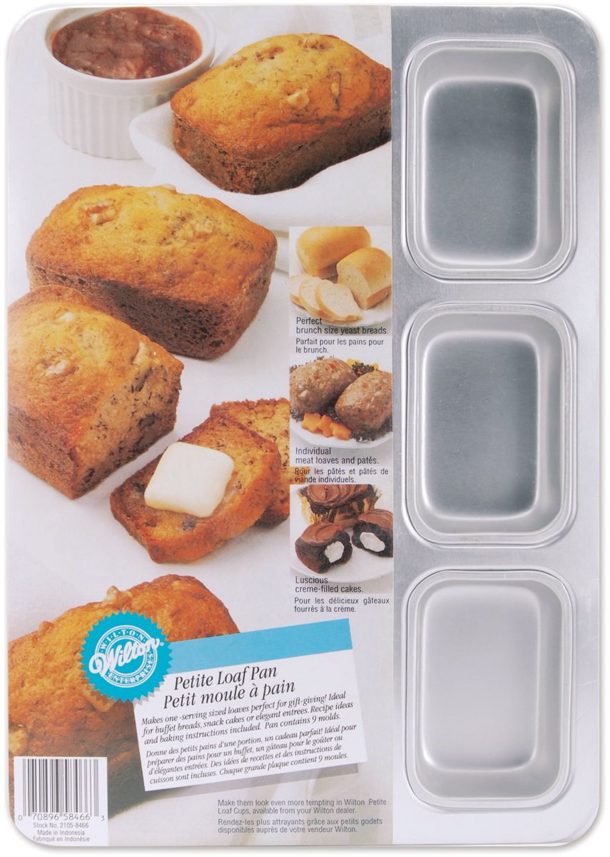 Petite Loaf Pan-9 Cavity 2.5x3.375