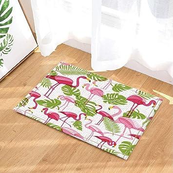 Cdhbh Sommer Tropical Decor Vector Flamingo Und Grun Palme Blatter