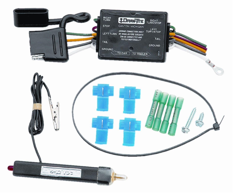 Tekonsha 20251 4-Flat Connector Harness Wiring Kit Vehicle End