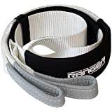 """Ranger 3"""" x 6' Tree Saver Strap for Tow Winch Recovery Heavy Duty with Reinforced Loops + Protective Sleeves 30,000 lb Breaki"""
