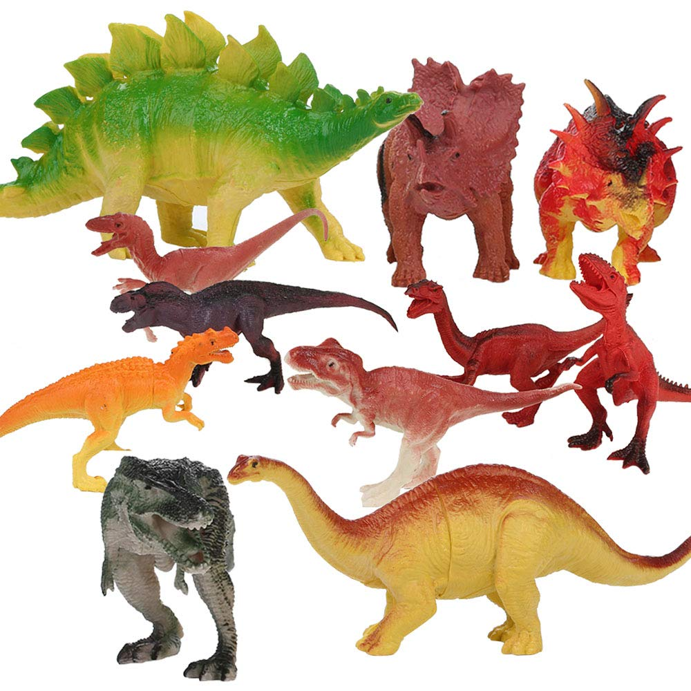 Eastsky Dinosaur Toys Dinosaur Figures 12 Piece Educational Realistic Dinosaur Figure Toys Set for Kids Toddlers Boys Girls (12 Pieces)