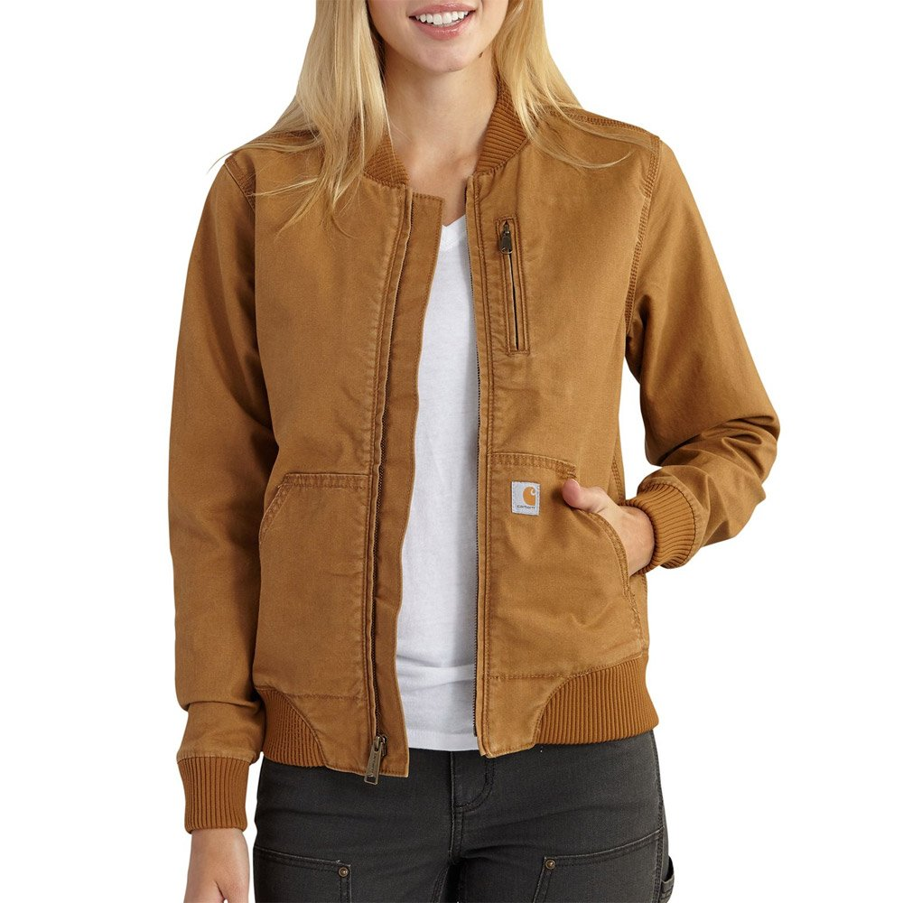 Carhartt Women's Crawford Bomber Jacket, Brown, X-Small