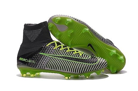 Mens High Ankle Soccer Shoes Nike Magista Obra II FG BlackParamount Blue  US