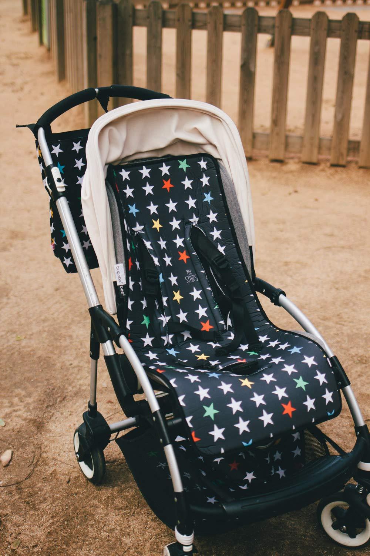 Color Rosa 38x30x16cm My Bags Bolso Bandolera de Bebe para Carrito con Colchoneta y Cambiador EstampadoSweet Dreams de Lunas y Estrellas