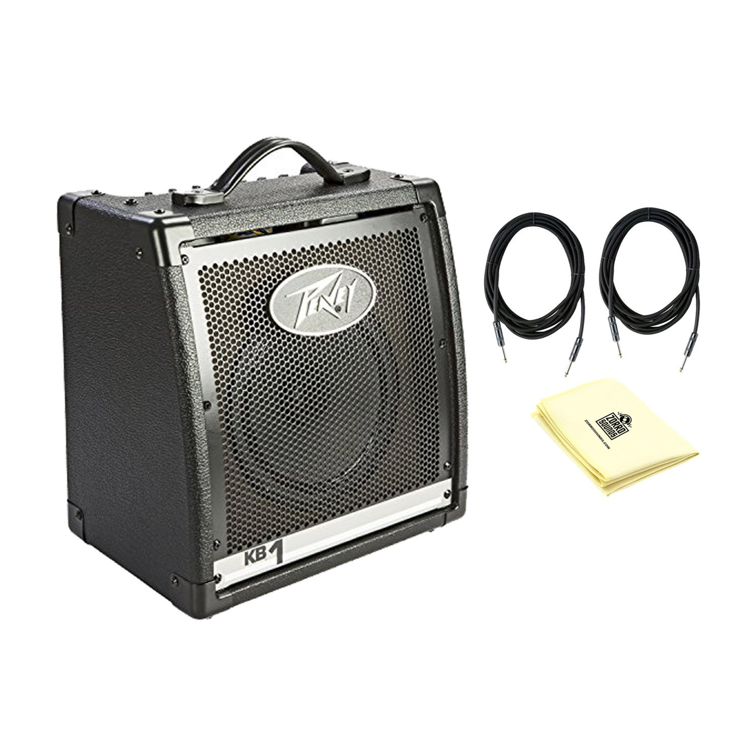 Peavey 00573100 KB 1 20W Keyboard Amplifier With a Pair of Instrument Cables and Polishing Cloth