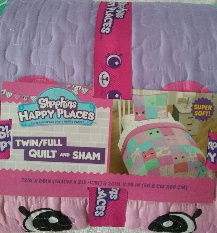 Franco Shopkins Happy Places Quilt /& Sham Twin//Full