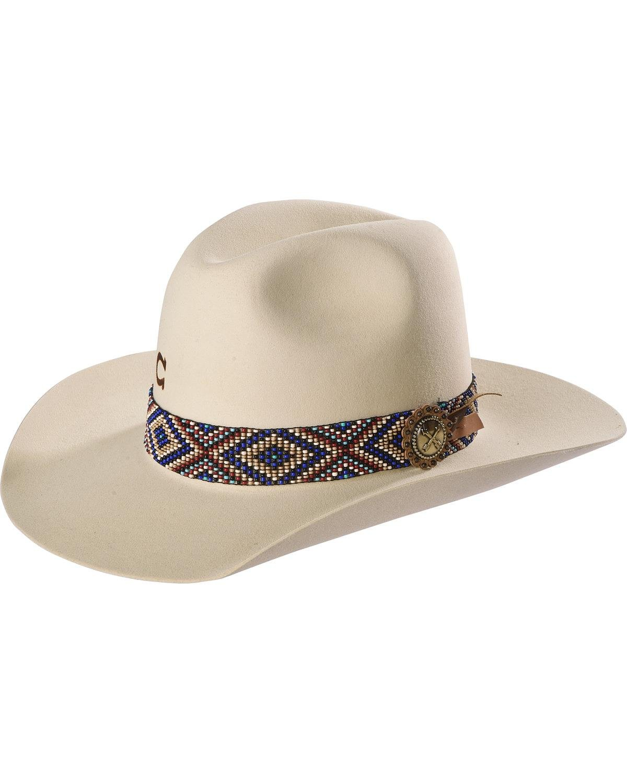Charlie 1 Horse Unisex Ivory Old Hag 5X Felt Hat Ivory 7 1/4