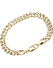 Citerna 9ct Yellow Gold Chunky Double Curb Bracelet - 7mm width