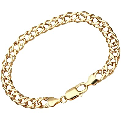 Citerna 9ct Yellow Gold Chunky Double Curb Bracelet - 7mm width Afjhd5n2g