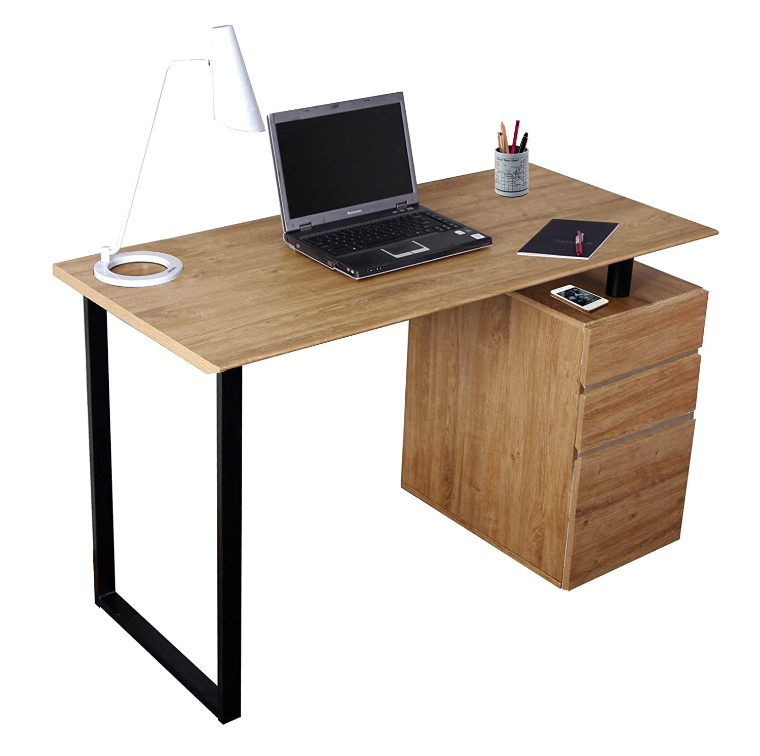 with home desk drawers vancouver furniture colour white glass office in desks cabinet modern