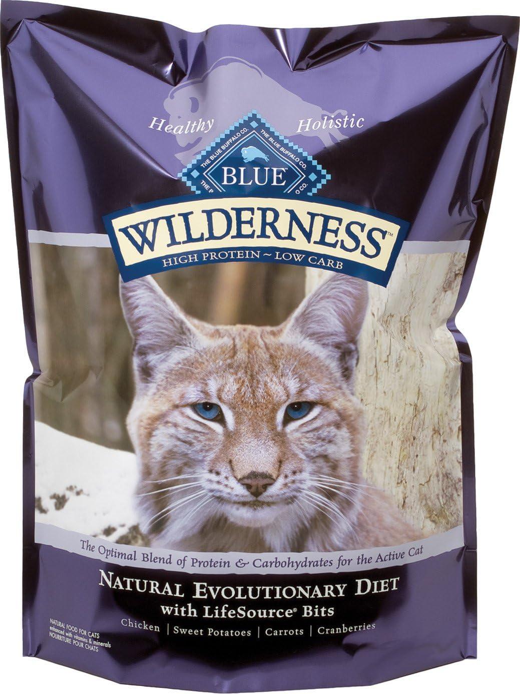Blue Buffalo Wilderness Grain Free Dry Cat Food, Chicken Recipe, 2.5-Pound Bag