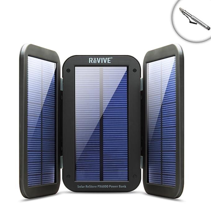 Restaurar px6000 plegable cargador Solar y 6000 mAh Banco de ...