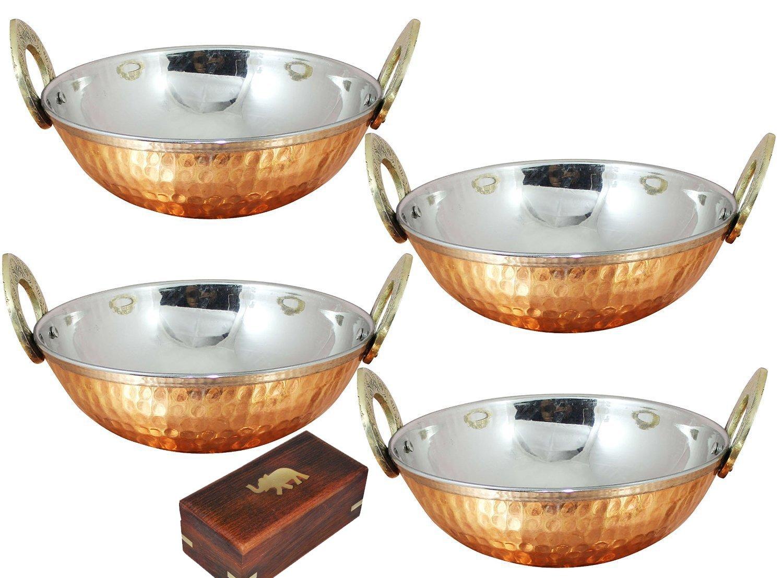 Ciotole in acciaio inox 350 ml usate come ciotola per cereali, ciotola per riso, ciotola per noodle, ciotola per gelato, set di 4, stile martellato, 13 cm SKAVIJ M-TK1