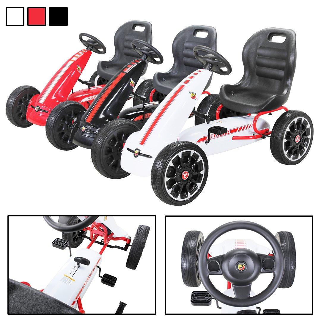 PEQUENENES Kart coche de pedales Fiat Abarth de CARS12V, ruedas ...