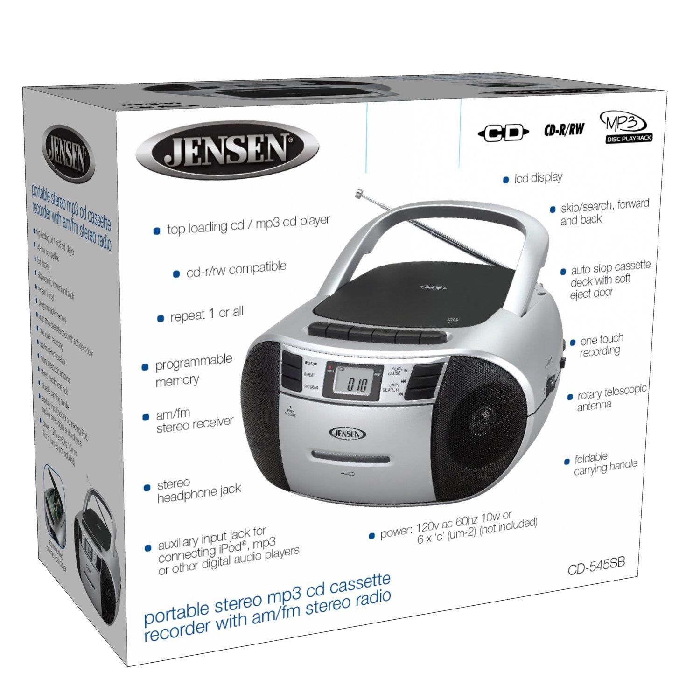 amazon com jensen cd 545sb top loading cd mp3 am fm radio cassette rh amazon com Jensen Stereo CD Player Walkman CD Player