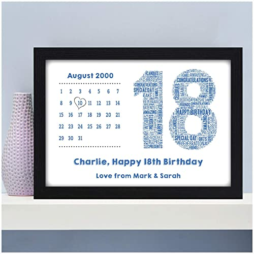 Personalised 13th 16th 18th 21st 30th 40th 50th Birthday Calendar Date Gifts For Him Boys Son Dad