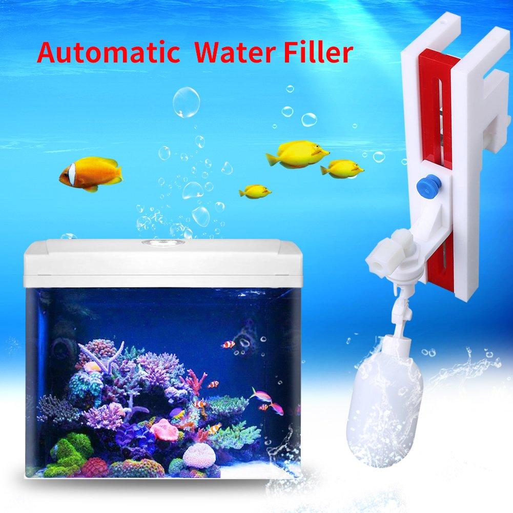 Zerodis Auto llenador de Agua Plástico No eléctrico Controlador de Nivel de Agua Filtro de Agua automático Válvula de Bola de Flotador con Soporte para ...