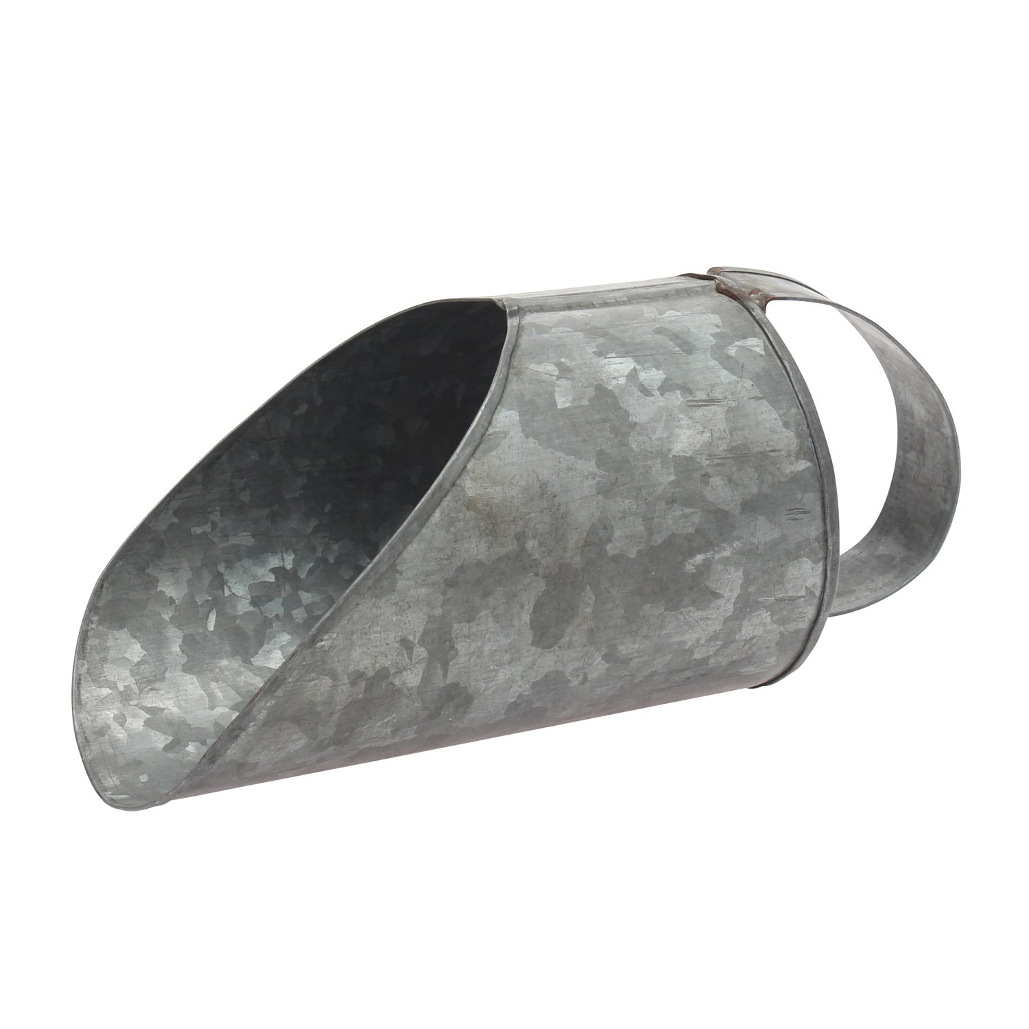 Stonebriar Aged Galvanized Metal Scoop by Stonebriar