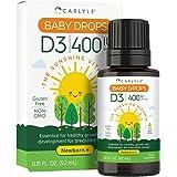 Carlyle Vitamina D3 400 UI, Gotas vegetarianas, sin OMG y sin gluten - 9.2 ml