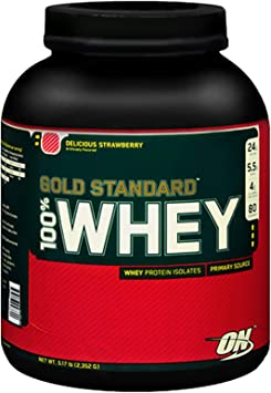 Optimum Nutrition Gold Estándar 100% Proteína de Suero en Polvo, Deliciosa Fresa 4540 g