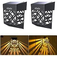 Etlephe Luz Solar Exterior, 2 Unidades LED Iluminacion Exterior Solar Impermeable con…