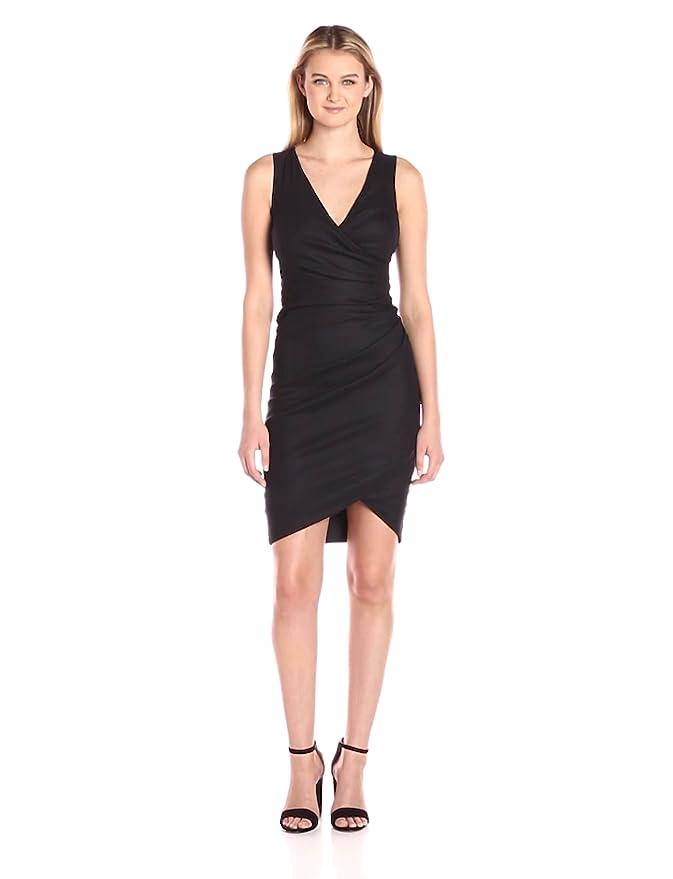 8d087411efe Nicole Miller Women s Stefanie Stretch Linen Dress at Amazon Women s  Clothing store