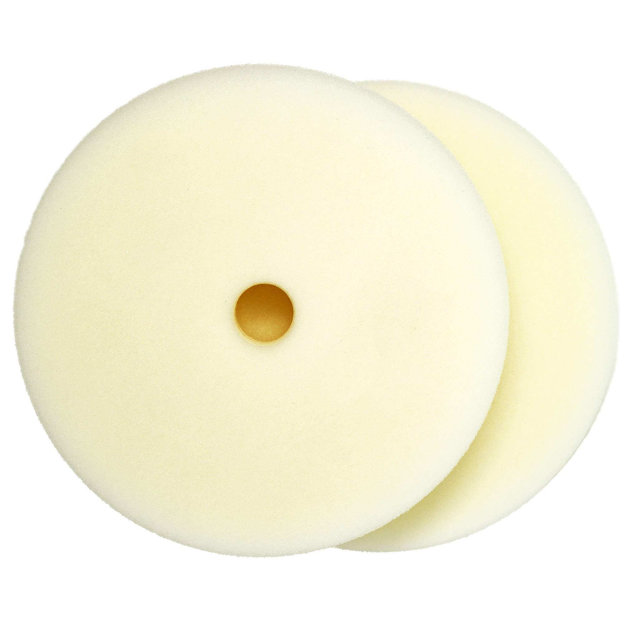 Rupes White Ultrafine Finishing Foam Pad 7'' (155mm/180mm) - 2 Pack