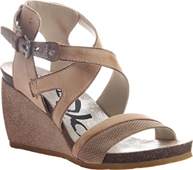 OTBT Women's Freedom Strappy Wedge Sandal,Stone Leather,US ...