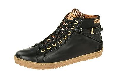 901-7312_i18, Baskets Hautes Femme, Noir (Black Black), 35 EUPikolinos