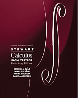Calculus early vectors james stewart 9780534493486 amazon student solutions manual for stewarts calculus early vectors fandeluxe Images