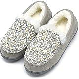 ONCAI Memory Foam Zapatillas De Casa para Mujer Felpa Pantuflas Mocasines Calentar Invierno Tweed Zapatos para Interior…