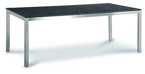 Best tavolo marbella acciaio inox ardesia 100 x 210 x 76 cm