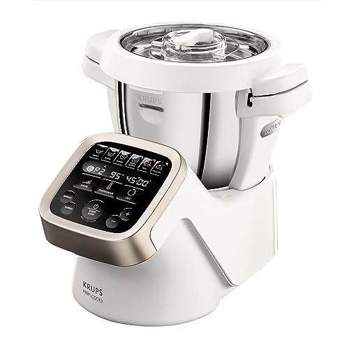 Krups hp5031Prep & Cook Robot Multifonctions avec accessoires (1550W haute qualité et jusqu'à 15000tr/min) Robot de cuisine multifonction blanc (import Allemagne)