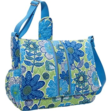 484a21bdaa61 Amazon.com   Vera Bradley Messenger Baby Bag (Doodle Daisy)   Baby