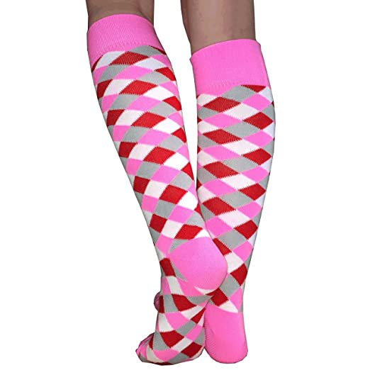 0d1ce12514b Chrissy s Socks Women s Twisted Knee High Socks 7-11 Pink at Amazon ...