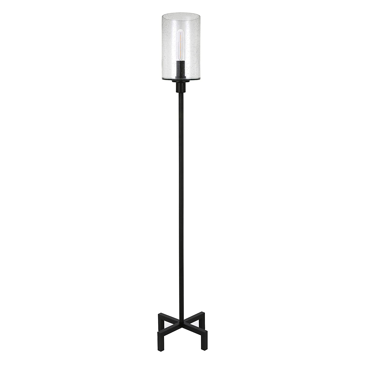 Henn&Hart FL0011 Modern Farmhouse seeded Lamp One Size Black