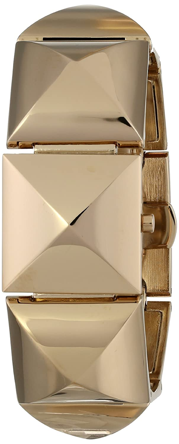 Vince Camuto Women s VC 5026CHGB Gold-Tone Pyramid Bracelet Covered Dial Watch
