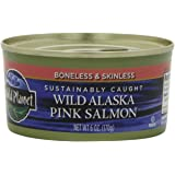 Wild Planet, Wild Alaskan Pink Salmon, Boneless & Skinless, 6-Ounce Cans (Pack of 6)