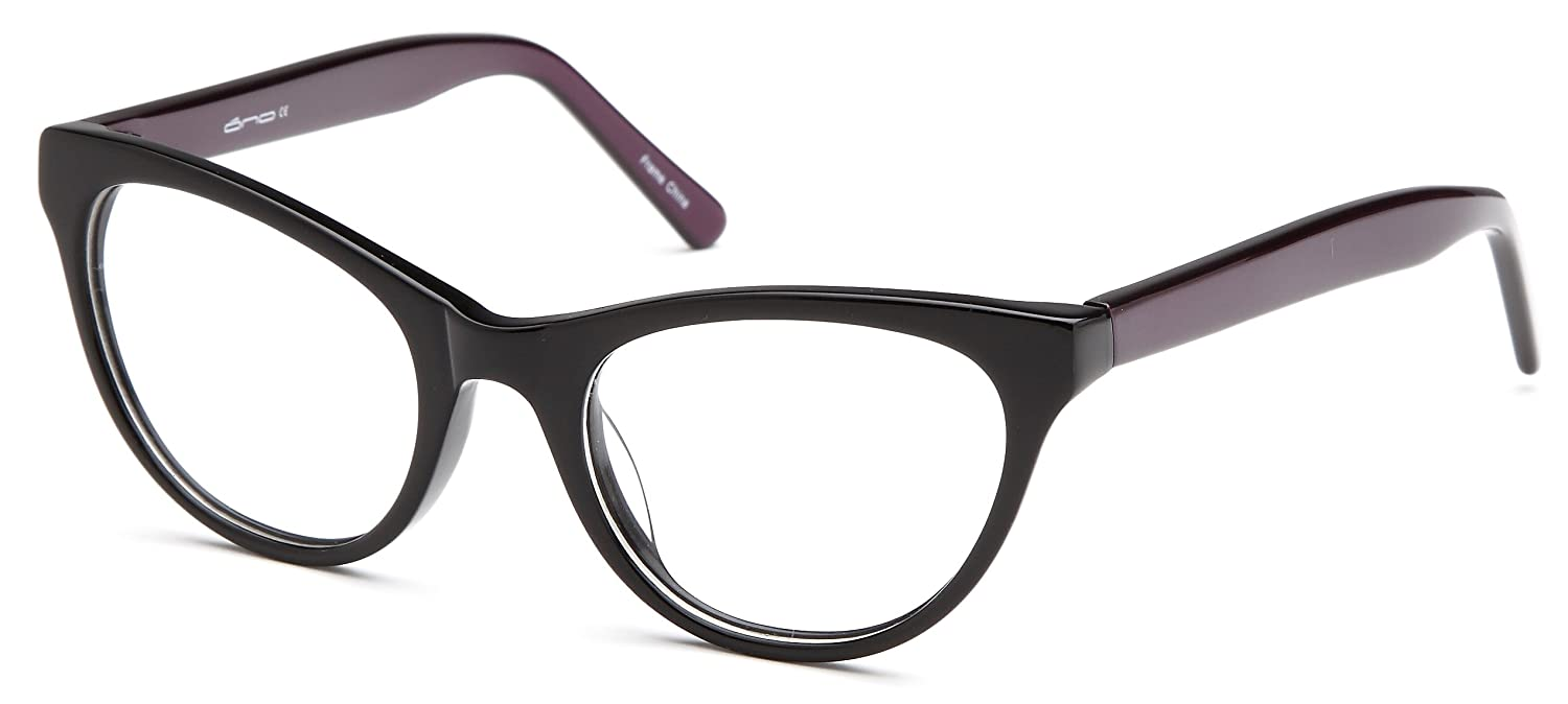 669c832d2f1 Amazon.com  Womens Cat Eye Two Toned Prescription Glasses Frames in Black   Clothing