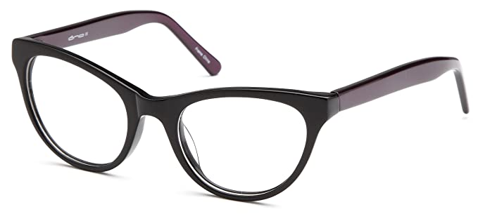 womens cat eye two toned prescription glasses frames in black