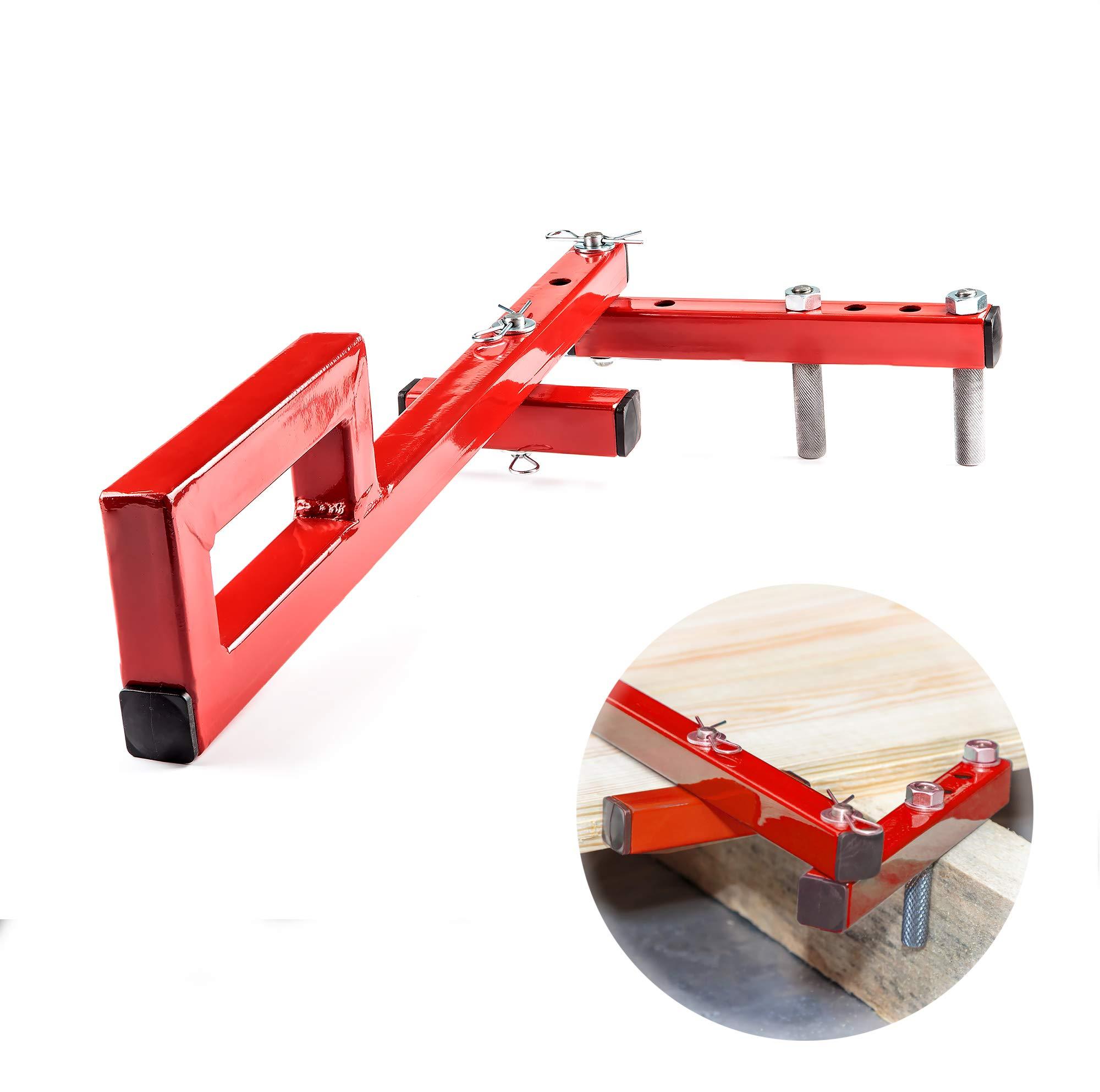 Floor Decking Tool Board Bender - Hardwood Bow Wrench Deck Board Straightener Flooring Jack Straightening Tool - Push & Pull - Extremely Adjustable Gripper Fits 2'' 3'' 4'' 5'' Floor Joists