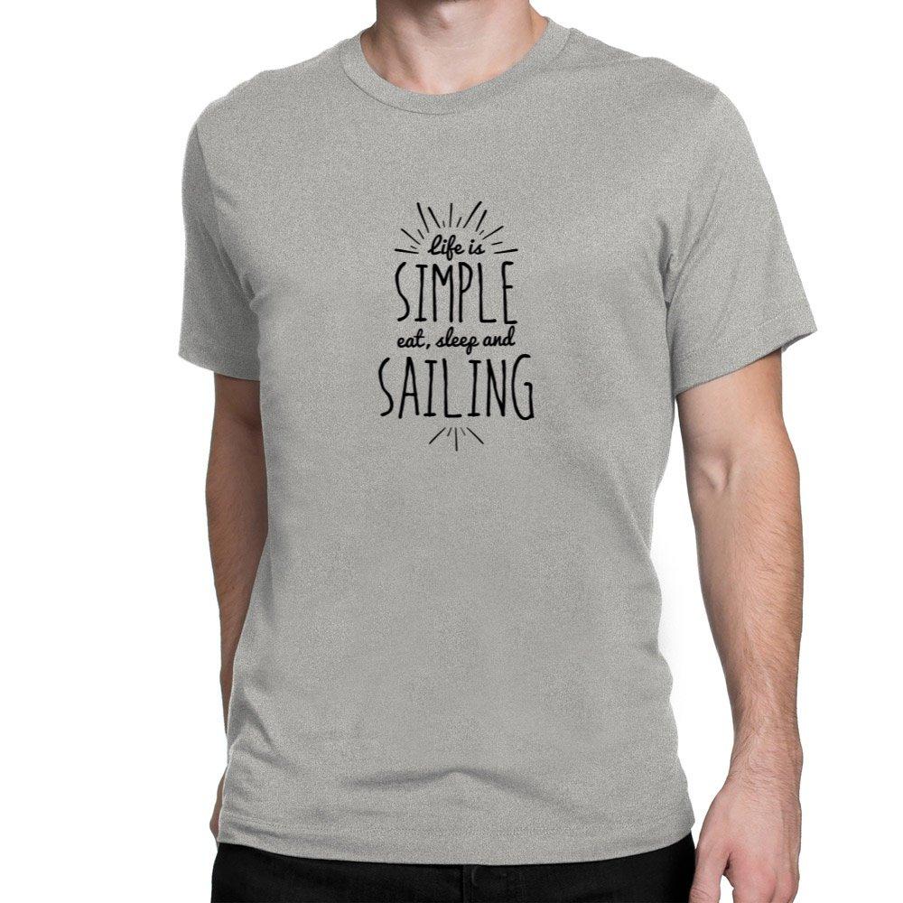 Site Athletics Life is simple eat sleep and Sailing T-Shirt S05615280SAB3080000D1
