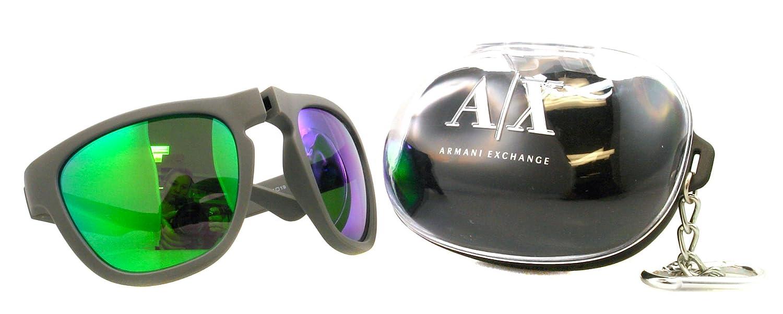 17d4427fbf5f Amazon.com  Armani Exchange Sunglasses AX 4012 Grey 8015 23 AX4012  Armani  Exchange  Clothing