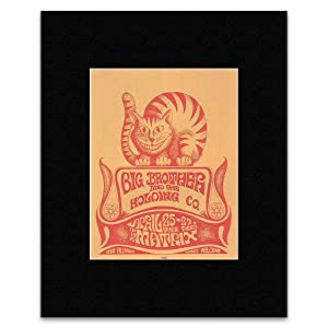 Big Brother and the Holding Company - The Matrix San Francisco 1967 Matted Mini Poster - 36x28cm