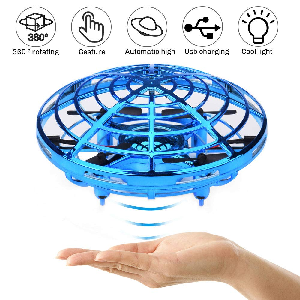 UFO Flying Ball Toys, Gravity Defying Hand-Controlled Suspension Helicopter Toy, Infrared Induction Interactive Drone Indoor Flyer Toys with 360° Rotating and LED Lights for Kids, Teenagers Boys Girls by CPSYUB (Image #1)