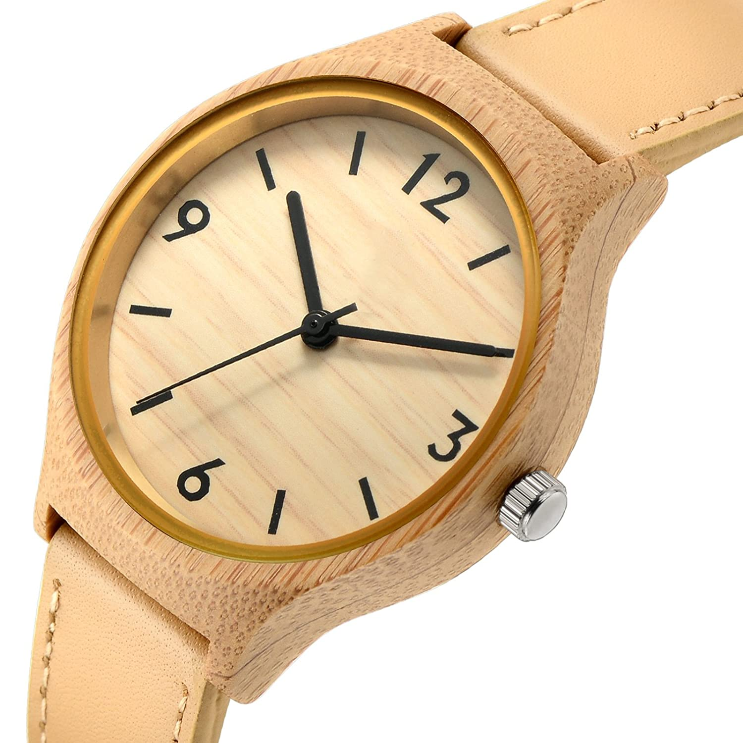 relogio womens wrist full wood bamboo ladies unique watch watches s bracelet natural beauty quartz women