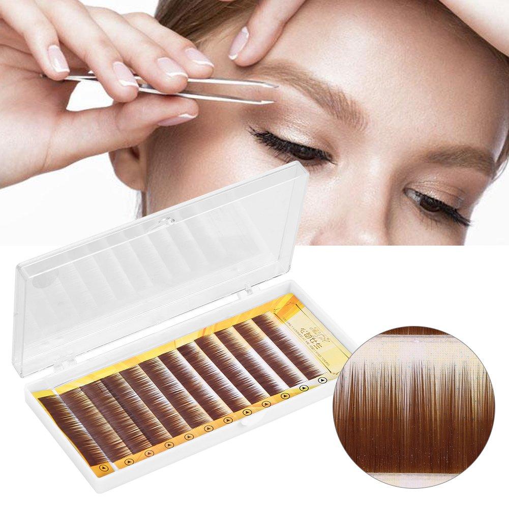 Eyebrow False Natural Extension Ultra Slim Fibre Dark Brown Extension Individual 5–8mm Brino